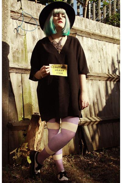 black black oversized Topshop dress