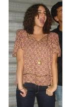 Topshop blouse - Levis jeans - Michal nagerin necklace - bracelet