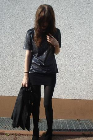 American Apparel skirt - Buffalo shoes - H&M blazer