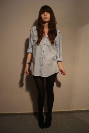 American Apparel dress - H&M men blouse - Buffalo shoes