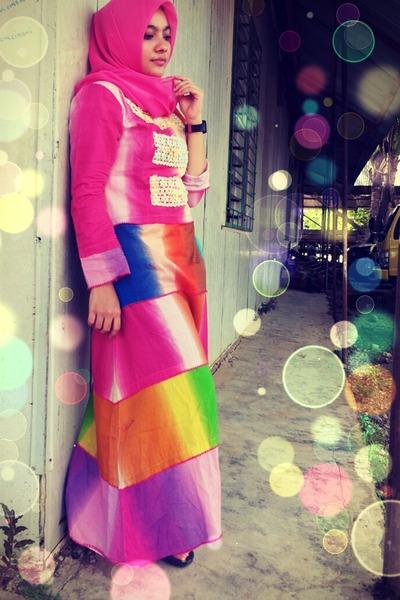 hot pink cotton rabih dress