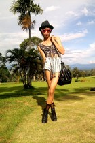 Guess shorts - rayban sunglasses - fringe custom made top