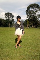 vintage skirt - Topshop blazer - no brand bra