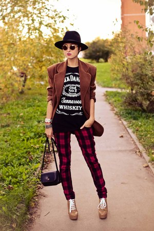 suede vintage blazer - Ebay heels - flea market vest
