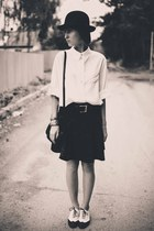 vintage t-shirt - vintage skirt - Ebay flats