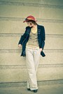 Navy-diy-blazer-flea-market-jeans-light-yellow-diy-t-shirt