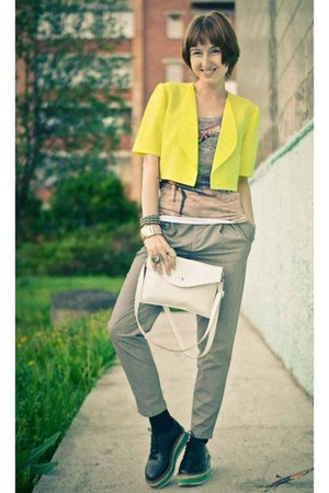 neon unknown brand jacket - pumps nonage loafers