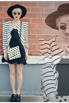 stripes Ebay blazer - wool hat Taobao hat - flatform Taobao loafers