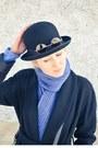 Handmade-scarf-scarf-long-incity-coat-bowler-flea-market-hat