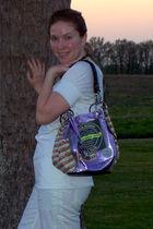 white - white - Kathy van Zeeland purse - white Clarks