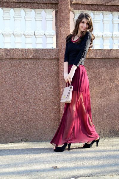 TinaR skirt - New Yorker purse - - sandals - H&M blouse