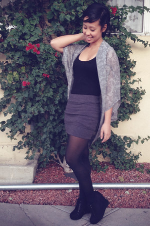 kimono cotton on top - PacSun wedges