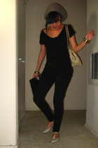 H&M t-shirt - seed pants - F21 t-strap shoes - Chanel purse