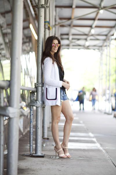 Nanette Lepore jacket - Paige shorts - Zara sunglasses - Aritzia top