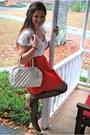Red-forever-21-skirt
