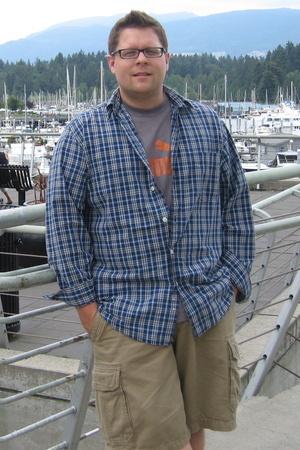 Levis shirt - Old Navy shorts - Puma t-shirt
