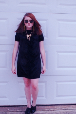 dress - necklace - sunglasses - shoes