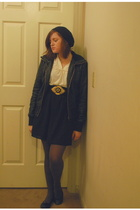 from a shop some where in paris jacket - forever 21 top - Old Navy skirt - Forev