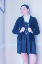 blazer - Forever21 dress - Forever21 top