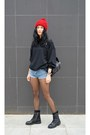 Lace-up-boots-ash-boots-backpack-anna-xi-bag-denim-choies-shorts