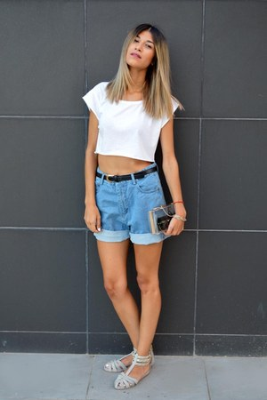 Choies bag - chicnova shorts - Kat Maconie flats