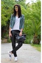 leather gestuz jacket - green choiescom sunglasses
