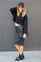 chicnova skirt - patent leather Zara boots