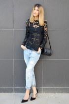 Sheinside blouse - za bag