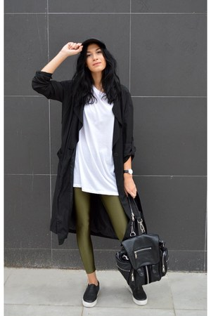 long asos coat - slip ons ASH sneakers