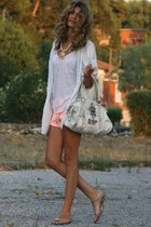 white Zara t-shirt - oversi gestuz shirt - white George Gina & Lucy bag