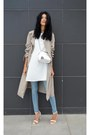White-sheinsidecom-dress-trench-coat-zara-coat-mini-zara-bag