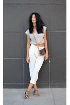 caramel Louis Vuitton bag - loose straight choiescom pants