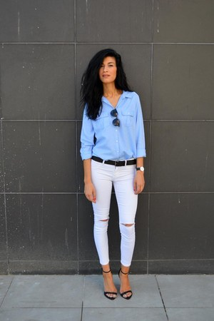 blue asos shirt