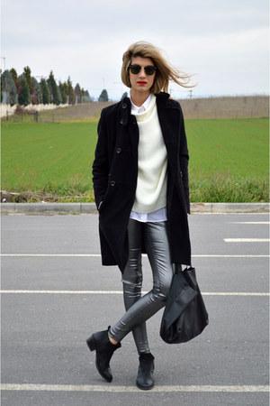 vagabond boots - Karl Lagerfeld shirt - gestuz pants