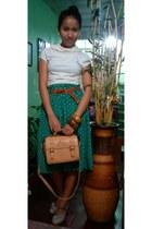 teal vintage skirt - camel camel sling bag winnie the pooh bag