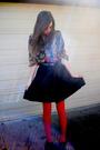 Red-target-tights-black-target-skirt-black-shirt-black-target-shoes
