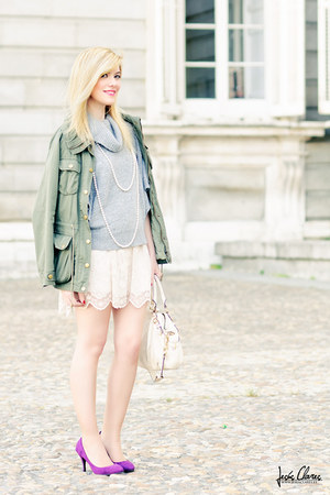 H&M skirt - coach bag - Forever 21 jumper