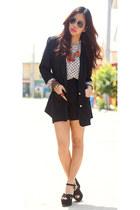 shopvintagefindsmultiplycom blazer - polka dots vintage blouse