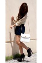 Chloe purse - hi waisted Forever 21 shorts - sheer pussybow Nectar blouse