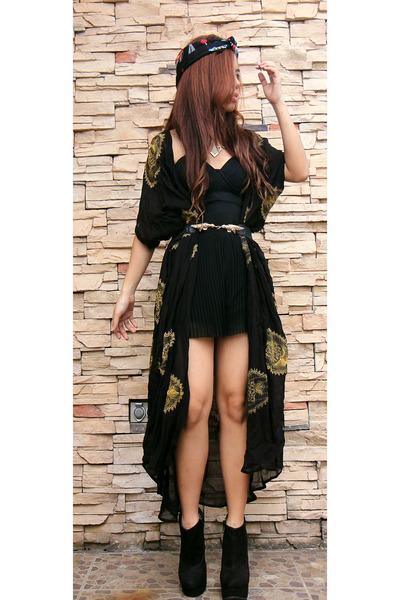 black premium kaftan asos vest