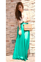 turquoise blue maxi skirt dept store skirt