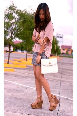 oversized pink shirt - skirt