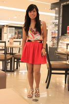 Topshop belt - Freeway dress - pink Forever 21 skirt