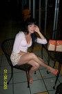 Beaded-old-navy-cardigan-cotton-print-valija-gitana-skirt-idore-heels