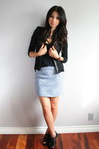 vintage skirt - Piko jacket - Topshop shoes - Urban Outfitters bra
