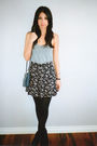 Gray-american-apparel-top-black-vintage-skirt-black-topshop-shoes-blue-vin