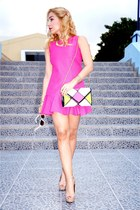romwe dress - romwe bag - Steve Madden heels