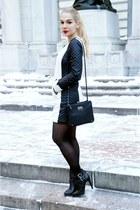 romwe dress - Zara boots - Nine West bag