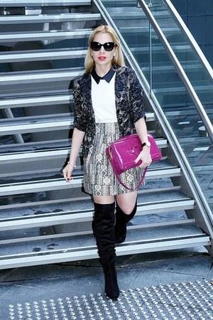 Guess boots - Dolce & Gabbana sunglasses - style moi skirt