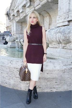 Zara sweater - Louis Vuitton bag - Topshop skirt - Daniel Wellington watch